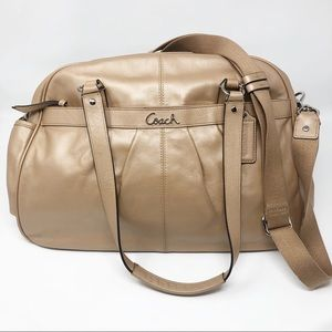 Coach leather cream pink large bag